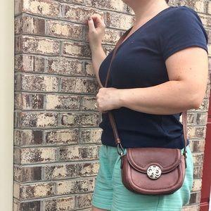 Brighton Mini Flap Saddle Leather Crossbody Bag